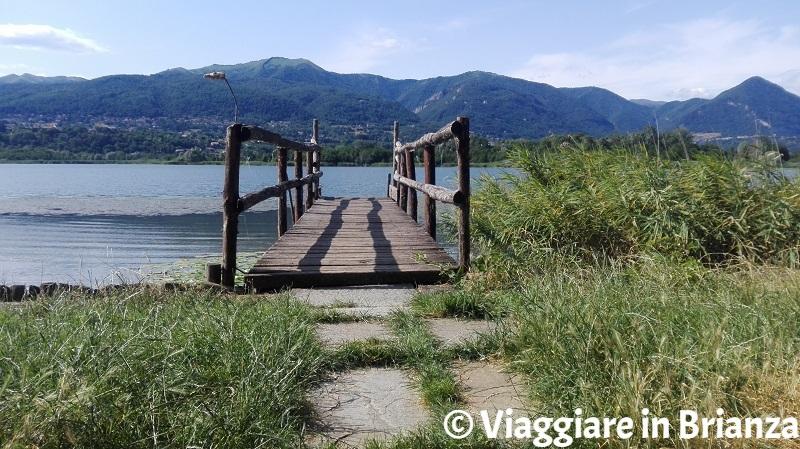 Casin del Lago e il lago di Alserio