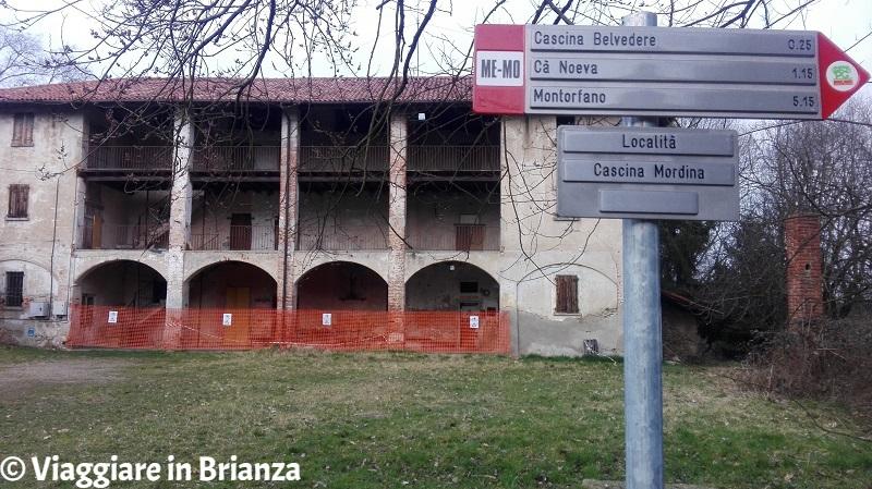 Cascina Mordina a Mariano Comense, i cartelli