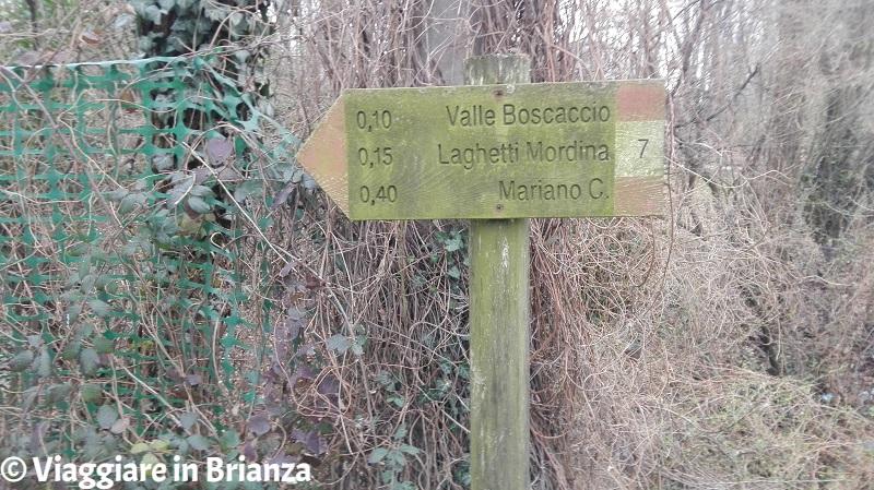 Parco della Brughiera Briantea, il sentiero 7 a Mariano Comense