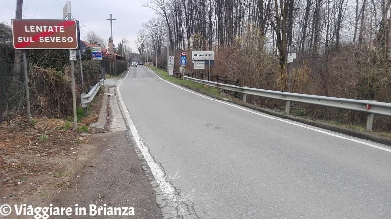 La strada tra Lentate e Mariano