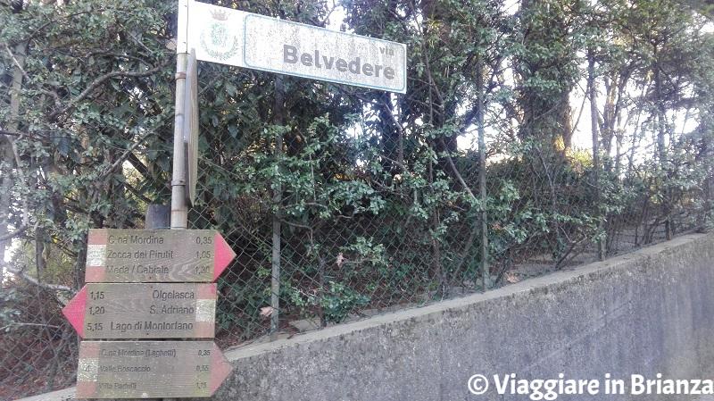 Via Belvedere a Mariano Comense