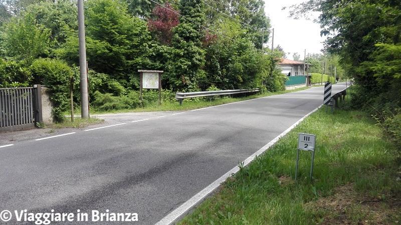 L'attraversamento di via Santa Maria a Meda
