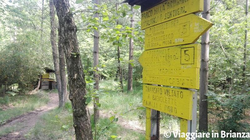 I cartelli dei boschi ex Roccolo del Porta