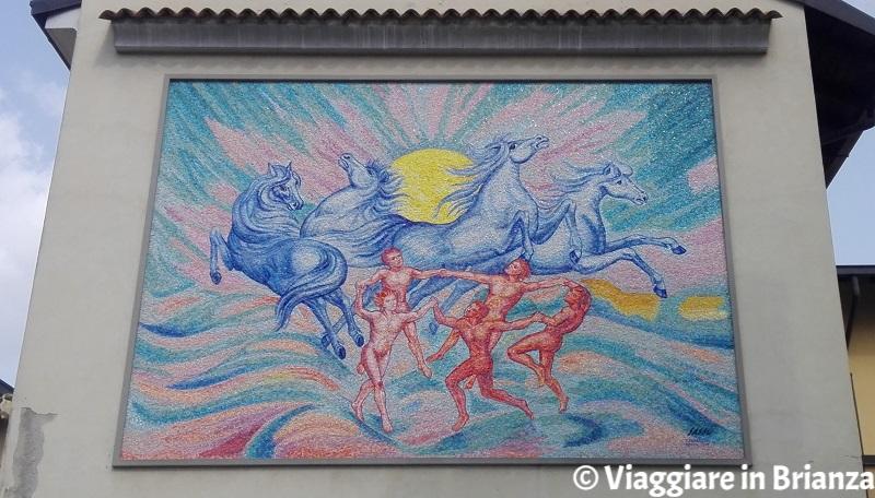 Cavalli e bimbi giocano sull'aia, Aligi Sassu