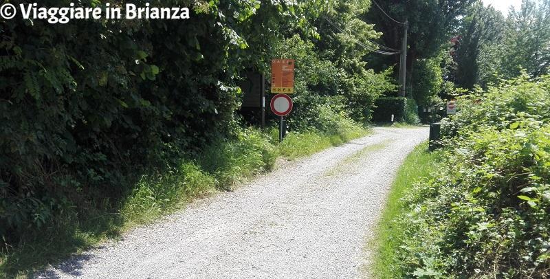 L'ingresso al Fosso del Ronchetto da via Sprelunga