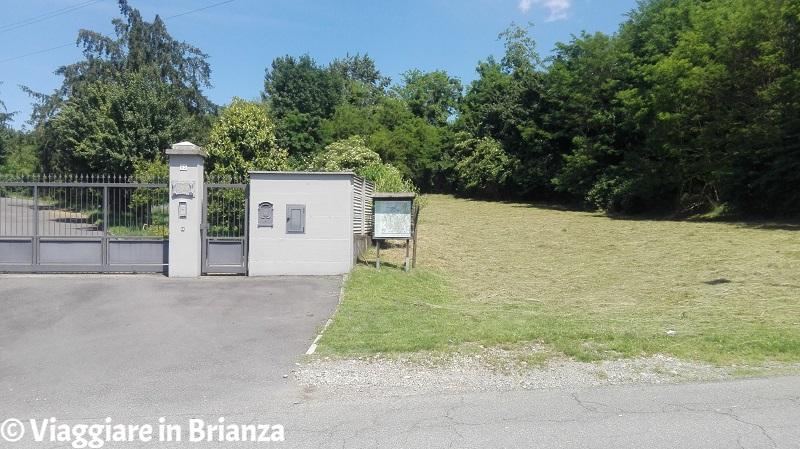 L'inizio del sentiero 5 del Parco della Brughiera Briantea