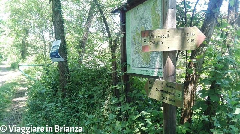 La mappa dei sentieri del Parco della Brughiera Briantea