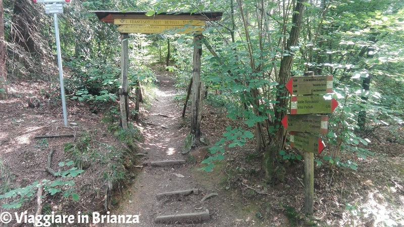 Il sentiero 4 e il sentiero 5 del Parco della Brughiera