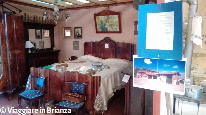 La camera da letto del Museo del Novecento di Carugo