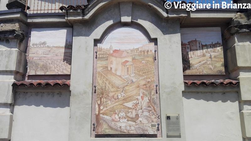 Cosa fare a Cesano Maderno, l'affresco del portale di accesso