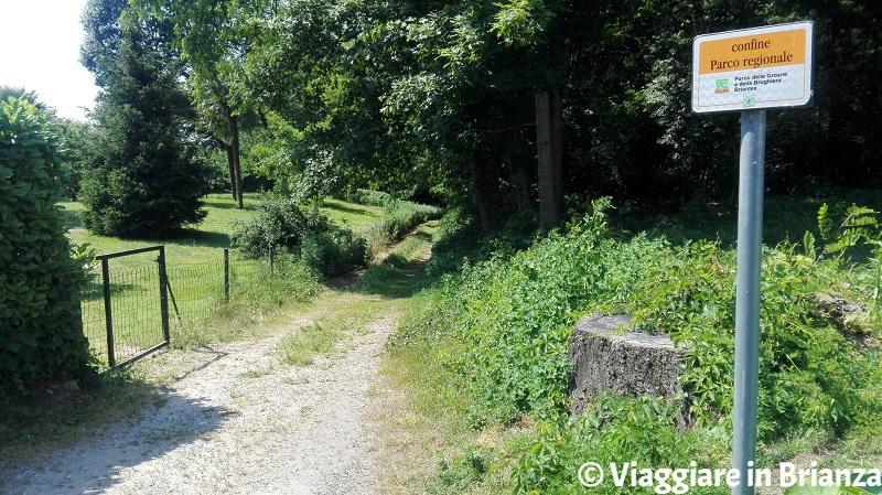 L'ingresso del sentiero 1 del Parco della Brughiera Briantea