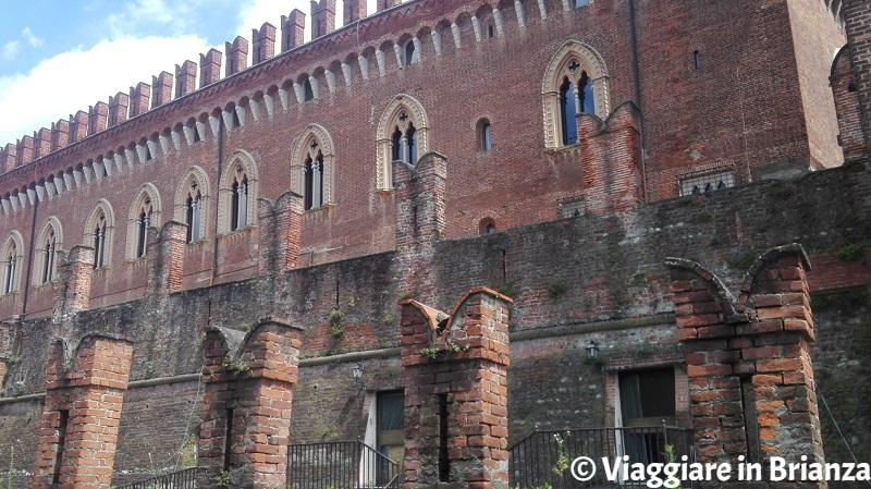 La merlatura del Castello di Carimate