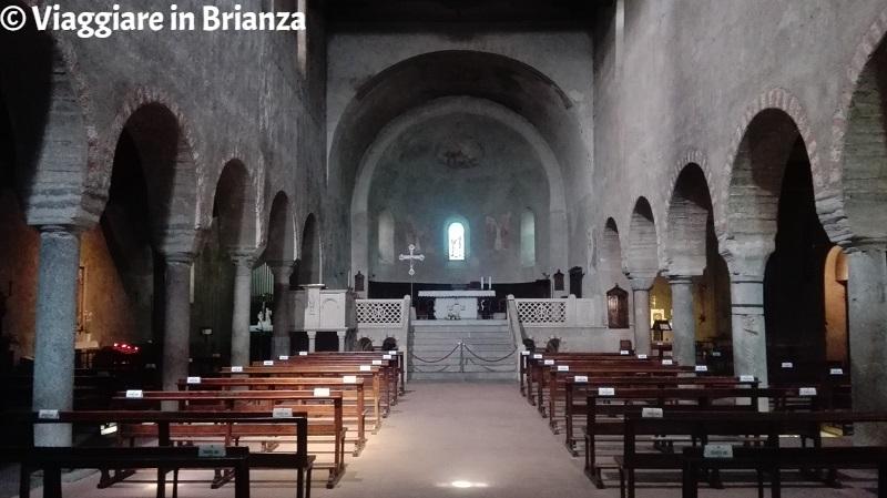 Il presbiterio della Basilica dei Santi Pietro e Paolo ad Agliate