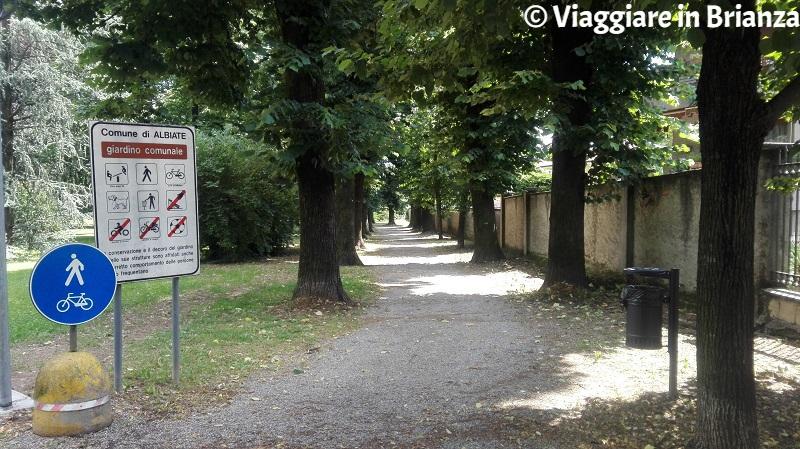 L'ingresso di via Dante a Villa Campello
