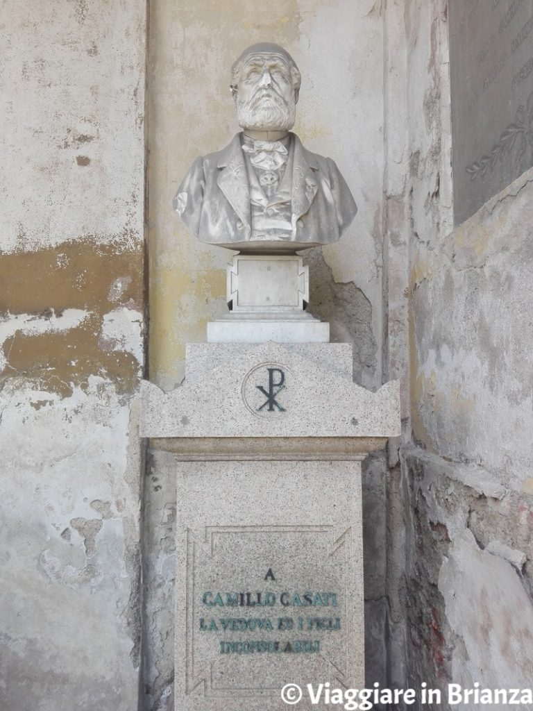 Il busto di Camillo Casati nel Mausoleo Casati Stampa