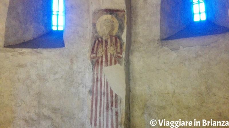 Cripta della Basilica di Galliano, la santa con la tunica