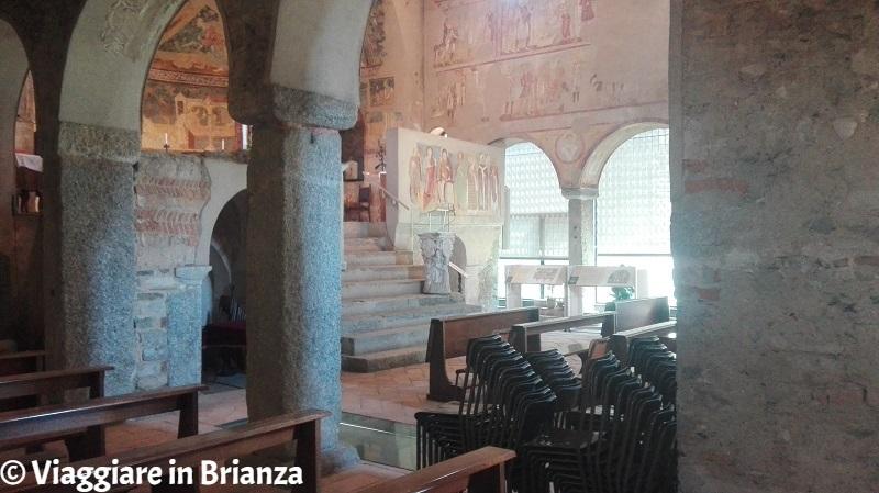 L'interno della Basilica di Galliano