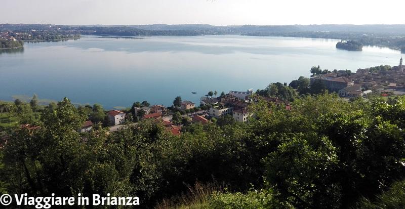 Il lago di Pusiano da Cesana Brianza