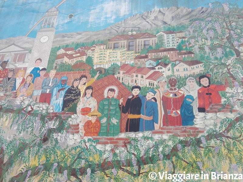 Il murales a Vedano al Lambro in via Santo Stefano