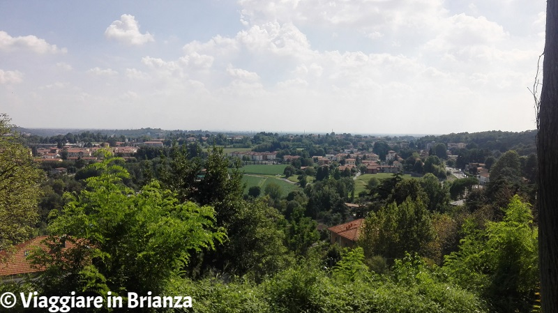 Il panorama dalla collina di Villa La Rotonda a Inverigo