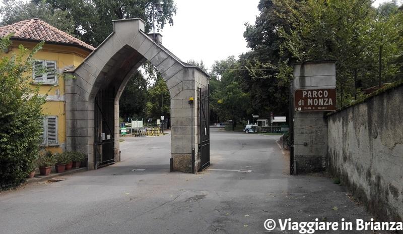 Parco di Monza, l'ingresso di Vedano