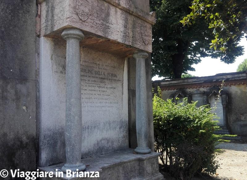 La tomba di Anna Giulini Della Porta al Mausoleo Casati Stampa