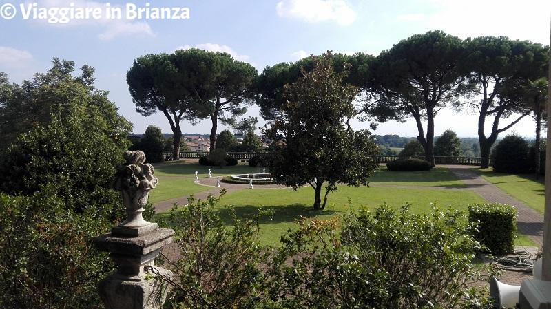 Il giardino di Villa Sacro Cuore a Triuggio