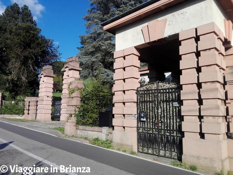 L'ingresso di Villa Longoni a Giussano