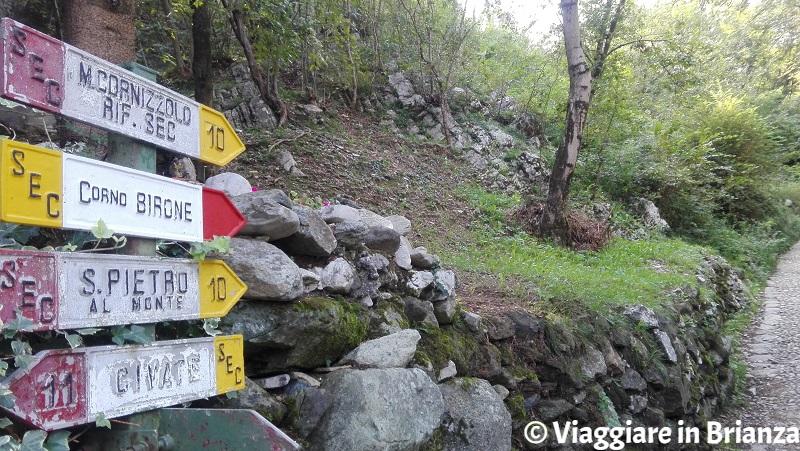 Il sentiero 10 per San Pietro al Monte