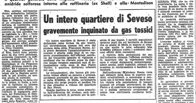 Il Corriere della Sera del 17 luglio del 1976