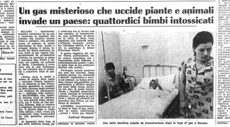 Il Corriere della Sera del 18 luglio del 1976