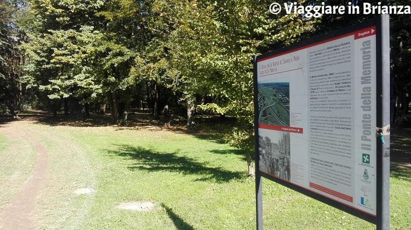 I pannelli didattici del Bosco delle Querce di Seveso