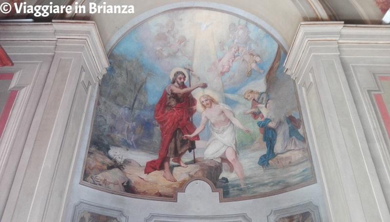 Santuario del Santo Crocifisso di Meda, il Battesimo di Cristo