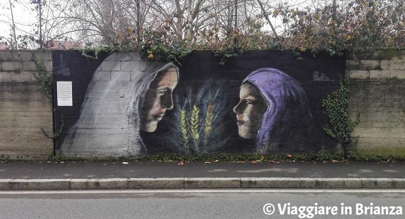 Cosa fare a Cantù, il murales dell'apparizione della Madonna a Cascina Novello