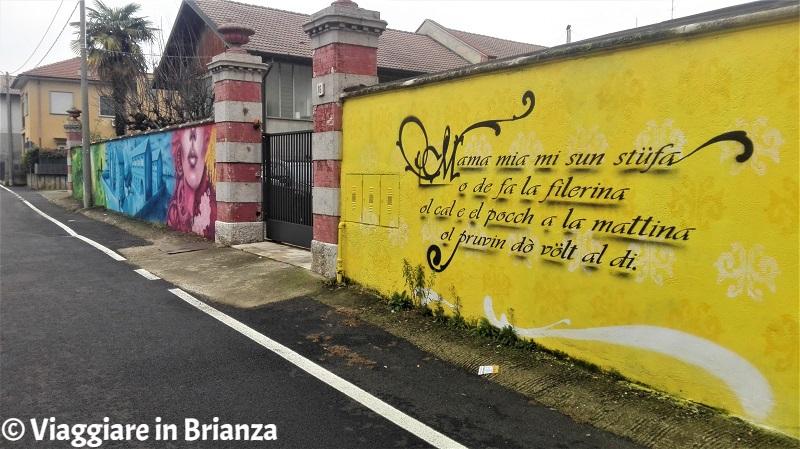 Cosa fare a Cantù, il murales dell'ex filanda