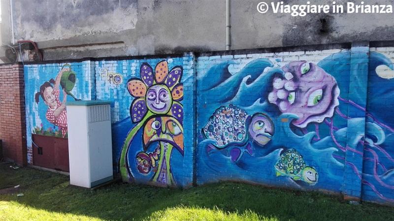 Cosa fare a Giussano, i murales del parchetto di via Leopardi