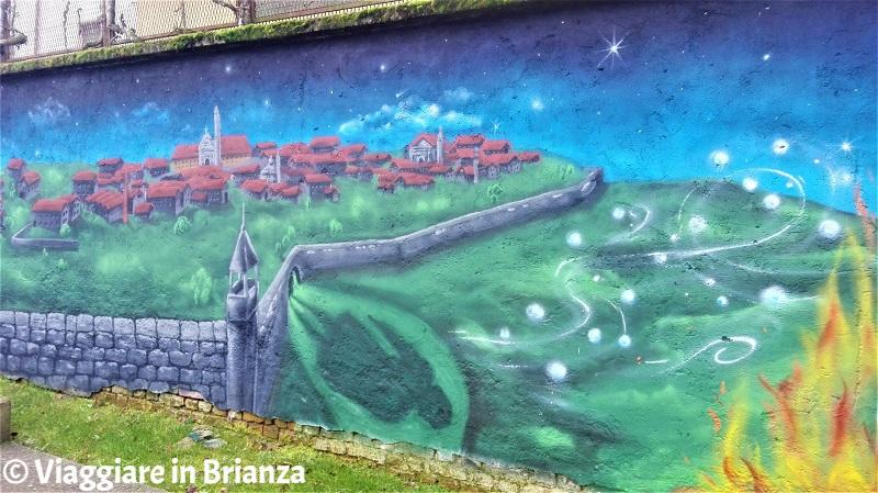 Il murale della RSA di Cantù