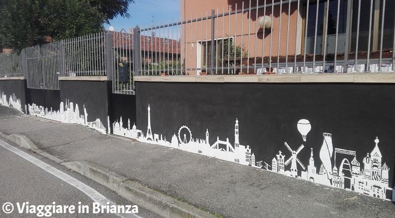 Street art in Brianza, il murales per le vittime del Covid a Desio
