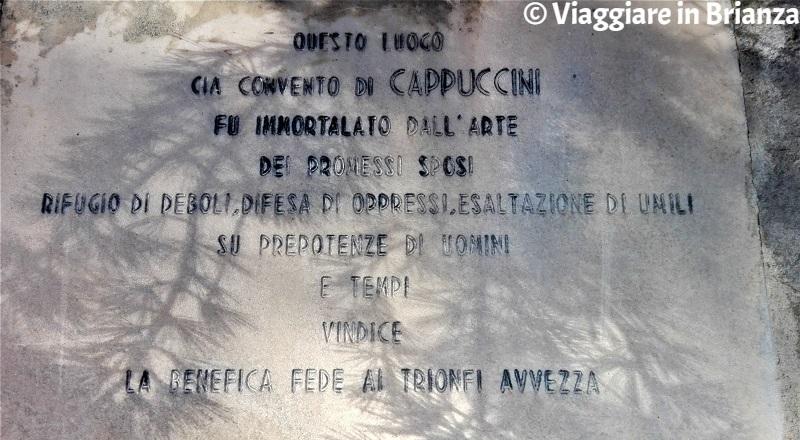Monza, il convento dei frati cappuccini dei Promessi Sposi