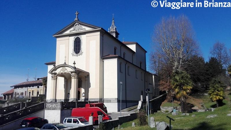La chiesa di Cassago Brianza vista dal Parco di Sant'Agostino