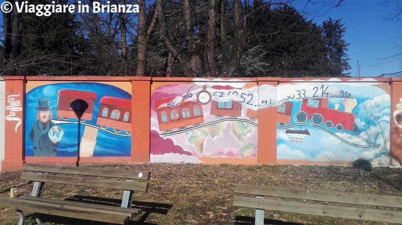Monza, il murale del Parco Ronchi a San Fruttuoso