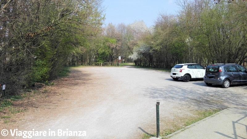 Cesano Maderno, Oasi Lipu: il parcheggio del centro visite