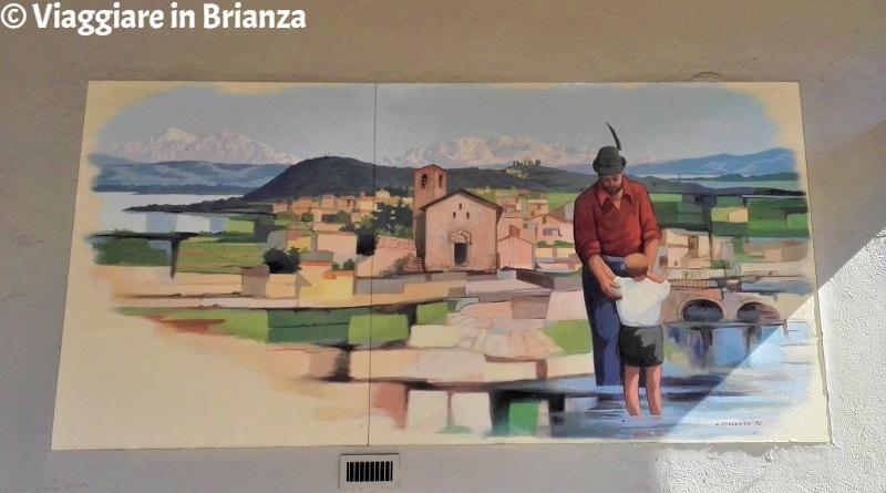 Cosa fare a Barzanò, il dipinto degli Alpini