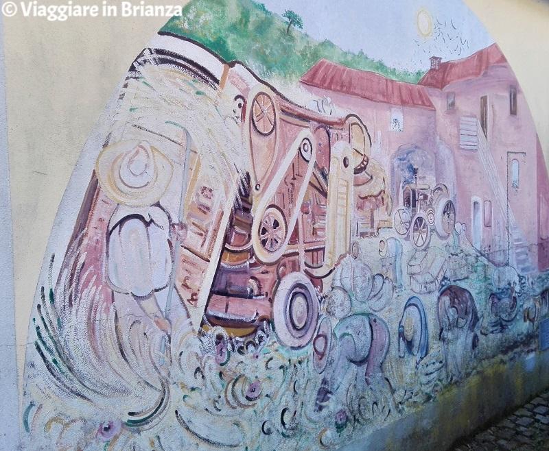 Cosa fare a Capiago Intimiano, il murale La trebbiatura