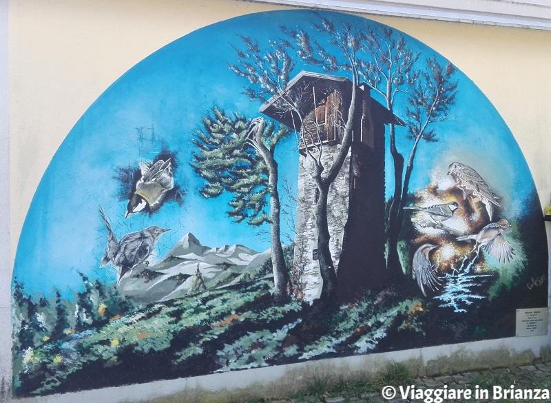 Cosa fare a Intimiano, il murales Il roccolo