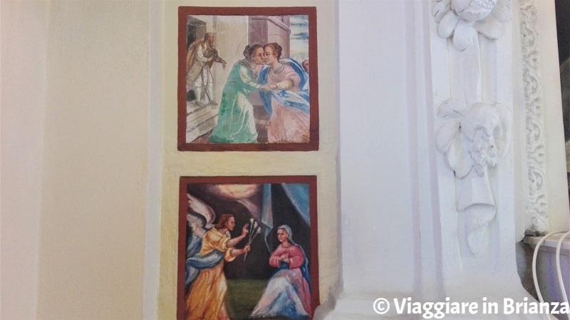 Un dettaglio degli affreschi della Chiesa della Beata Vergine Assunta di Torricella