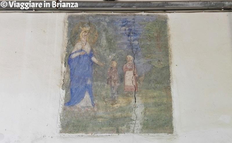 Il dipinto della Madonna di La Salette a Cascina Gemella