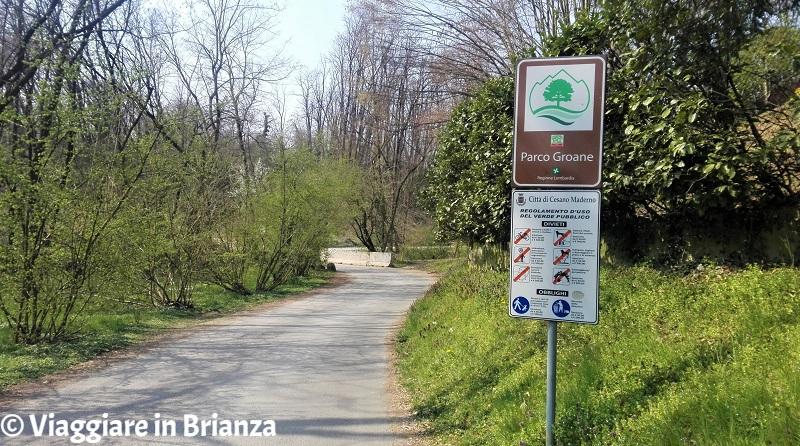 L'inizio della pista ciclabile dell'Oasi Lipu di Cesano