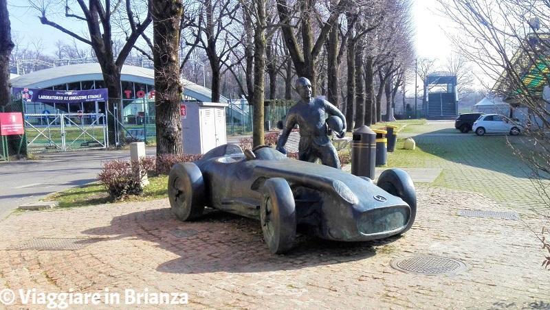 Il Monumento a Fangio nell'Autodromo di Monza
