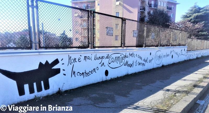 Monza, il murales In canmino di Elisabetta Oneto